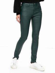 Molly-Bracken-Pantalon-Slim-Simili-vert-sapin-a-30