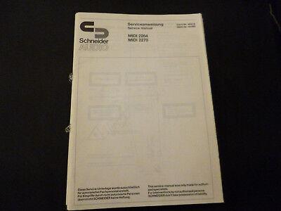 Verarbeitung In Original Service Manual Schneider Midi 2264 Midi 2270 Exquisite