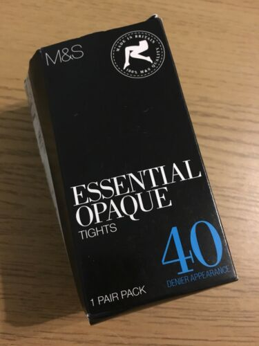 Brand New 40 Denier black Opaque Tights In Large//Ex Large Size