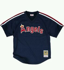9f39ff7d230 NEW MITCHELL   NESS CALIF ANGELS REGGIE JACKSON BATTING PRACTICE ...