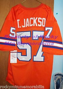 Broncos TOM JACKSON Signed Orange Crush Jersey w  Ring-Of-Fame Insc ... eb27de6a8