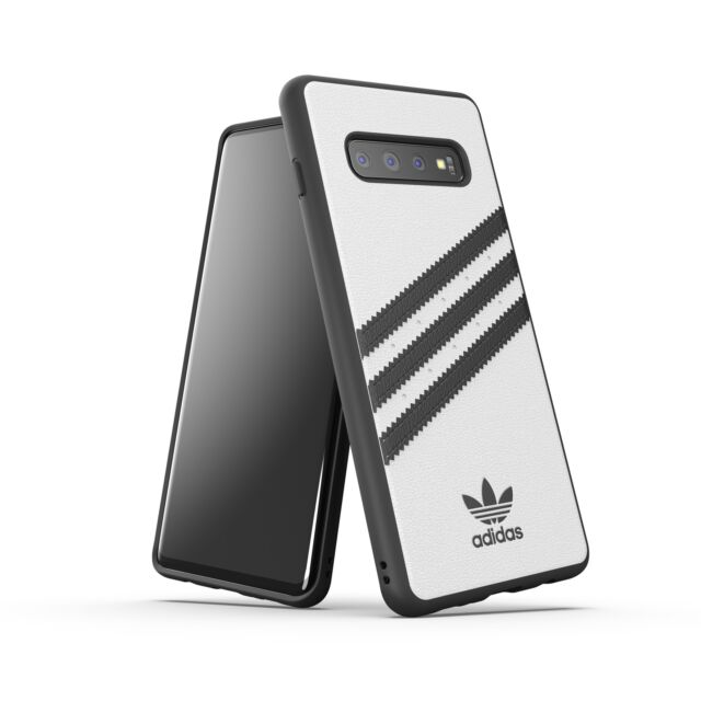7cc94476 adidas Originals Samsung Galaxy S10+ Moulded Case - White/Black