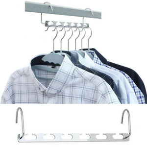 Image is loading Space-saver-hangers-2Pcs-closet-organizing-racks-multiple-