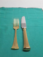 Towle Silversmiths Nobless Fine Stainless 1-knife 9 1/4long, 1-sald Fork