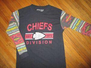 KANSAS-CITY-CHIEFS-T-SHIRT-Tribal-Native-American-Southwestern-Art-Sleeves-MED