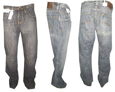 Jeans Lee uomo Bootcut Roscoe Zampa Elefante pantaloni Blu W 28 29 30 31 32 33