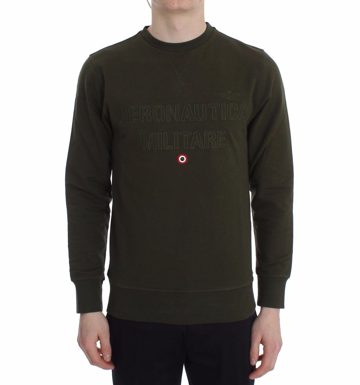 Nuevo Aeronautica Militare Jersey verde Algodón Elástico Cuello rojoondo S.  XXL  mejor marca