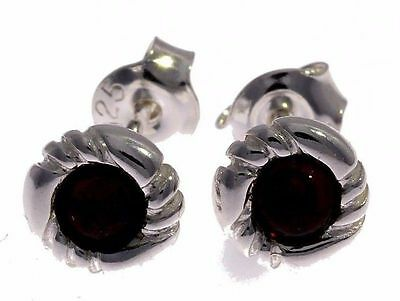 Enthusiastic Cherry Baltic Amber & 925 Sterling Silver Beautiful Studs Earrings Gl120 Gemstone Fine Jewelry