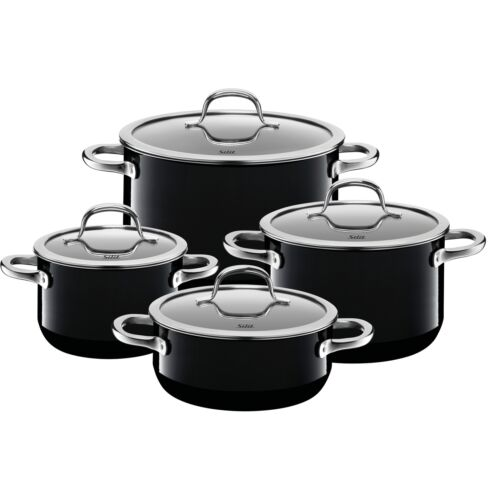 Silit olla-set 4-piezas Passion Black schüttrand made in Germany hohlgriffe