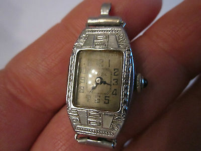 "1 1/4"" X 5/8"" Soft And Light Nice Vintage Ya Pa Napoleon Iwcco 15 Jewel Watch Sapphire Crown"