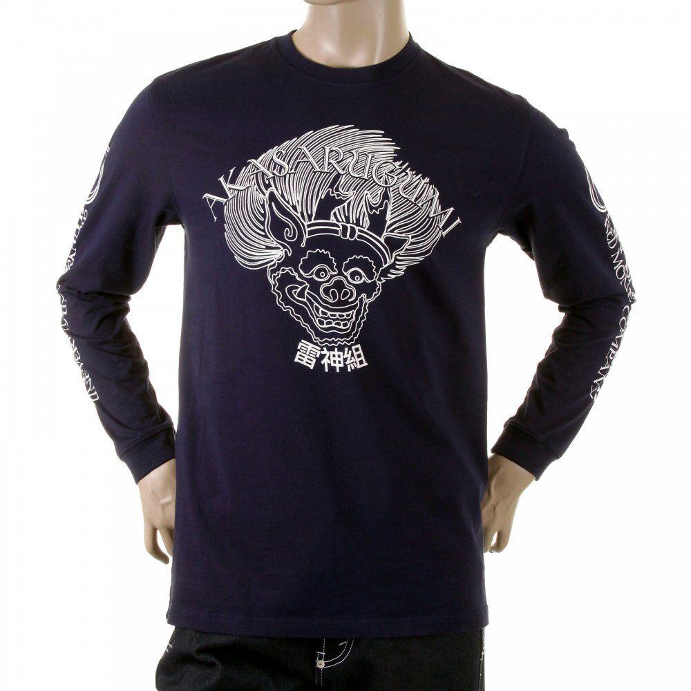 RMC Martin Ksohoh top 11113007 navy Raijin T-shirt rotM5406