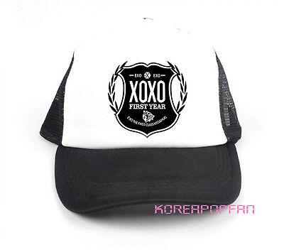 EXO KPOP EXO-M EXO-K XOXO LUHAN KRIS KAI BLACK KPOP HAT CAPS NEW