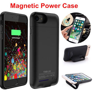 check out 8422f 85ff0 Details about For iPhone 6 6S 7 plus Magnetic Battery Case Cover Back Power  Bank Pack Charger