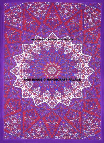 Indian Psychedelic Bedspreads Star Mandala Tapestry Hippie Bohemian Bedding Set
