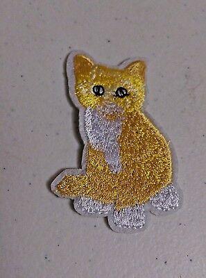 """Eerlijkheid Yellow Cat 2-3/4"""" X 1-3/4"""" Iron On Patch Applique Kitty Cat (#1) Gediversifieerde Nieuwste Ontwerpen"""