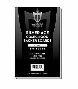 200-Max-Pro-Silver-Age-Comic-Book-Acid-Free-Backing-Boards-white-backers
