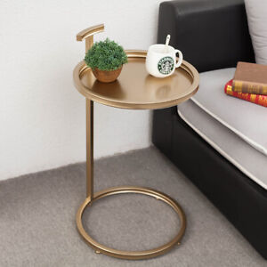 Fabulous Details About Modern Metal Glass Round Top Linear Lounge Sofa Side Table In Black Gold 70Cm Inzonedesignstudio Interior Chair Design Inzonedesignstudiocom
