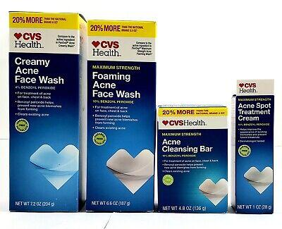 Cvs Health Acne System Kit Maximum Strength Benzoyl Peroxide 4pk
