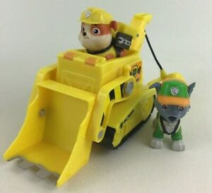 Paw-Patrol-Rubbles-Diggin-Bulldozer-Figures-Vehicles-Spin-Master-2019-with-Rocky