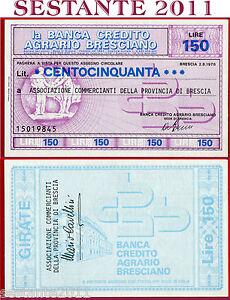GéNéReuse Banca Credito Agrario Bresciano Lire 150 2.8. 1976 Ass. Commercianti Fds B116