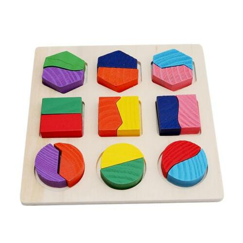 Geometric Intelligence Wooden Geometry Block Puzzle Kids Education Toys New Y