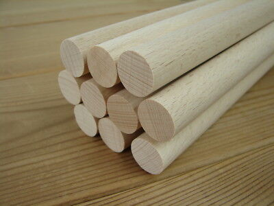 50x Holzdübel Holz-Dübel Buche 6 x 35 mm Möbelverbinder Steckdübel Holz