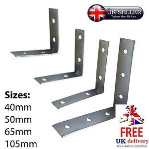 Details about Zinc Corner Brace Bracket Assorted Steel Angle Joint Wood  Repair 90 degree