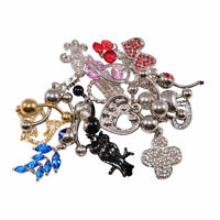 Belly Button Rings Dangle Design Pack Of 10 14g