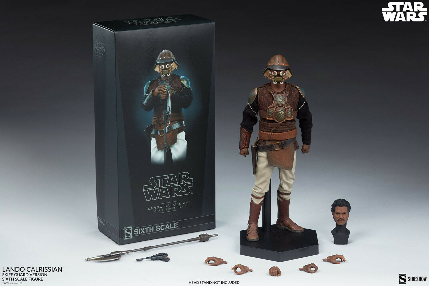"SIDESHOW 12"" STAR WARS ROTJ LANDO CALRISSIAN SKIFF GUARD VER 1/6TH SCALE FIGURE  on eBay thumbnail"
