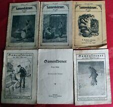 Brockhaus Verlag Elberfeld 6 SAMENKÖRNER Hefte alt 1917 - 1930