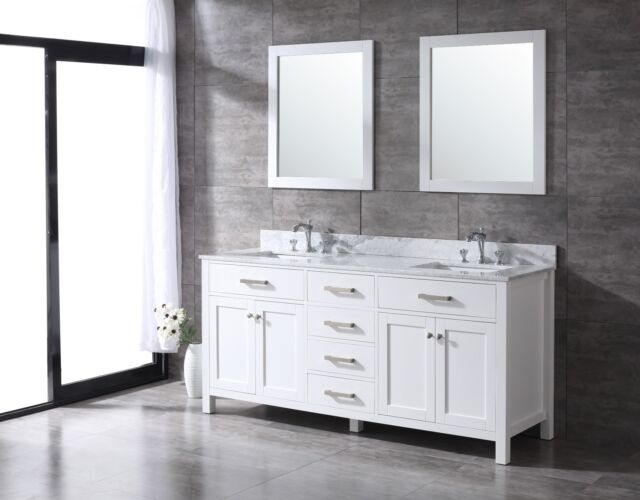 Amazing All Wood High End White Slate Grey Or Espresso Shaker 72 Inch Bathroom Vanity Home Interior And Landscaping Ferensignezvosmurscom