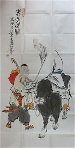 RARE-Chinese-100-Handed-Painting-By-Fan-Zeng-CF6