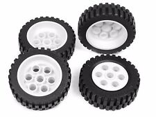 LEGO TECHNIC WHEELS Model Team set of 4 42x12mm Wheel Tire large tyre white *