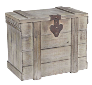 Image Is Loading Antique Storage Trunk Vintage Wooden Blanket Chest Barn