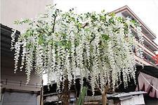 Artificial Silk Wisteria Vine Flowers Garden Decoration Living Room Hanging New