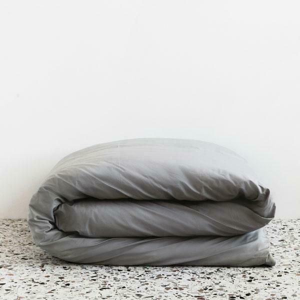190 RETAIL Parachute Percale Duvet Cover ONLY in FOG king California  king