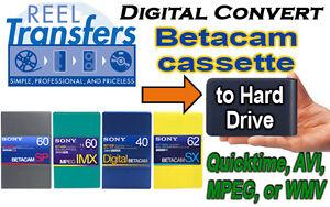Convert BetacamSX/Digi-Beta/MPEG IMX tape transfer to Hard Drisk (edit ready)