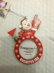 NEW Ohio State BUCKEYES #1 OSU Fan Photo Christmas Ornament Keepsake ...