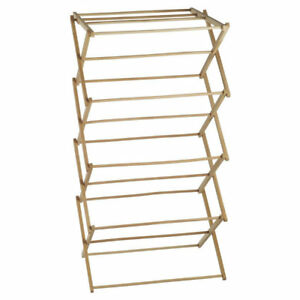 Wooden Clothes Horse Airer Laundry Hanging Folding Dryer Indoor