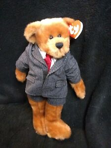 """TY Beanie WILLIAM, 12"""" Dressed For Success  1993, The Attic Treasures Collection"""
