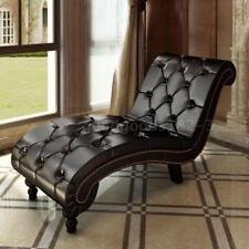 Item 2 Leather Chaise Lounge Chesterfield Brown Retro Sofa Bed Recliner  Chair Seat W5Q0  Leather Chaise Lounge Chesterfield Brown Retro Sofa Bed  Recliner ...
