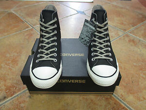 01fc4bf64c1c Converse Chuck Taylor Coated Leather HI Gr 44 Black Malted Egret ...