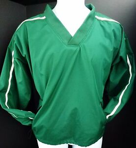 Latest Collection Of L/xl Easton Motion Pullover Vneck Green Long Sleeve Jacket Windbreaker Providing Amenities For The People; Making Life Easier For The Population Activewear