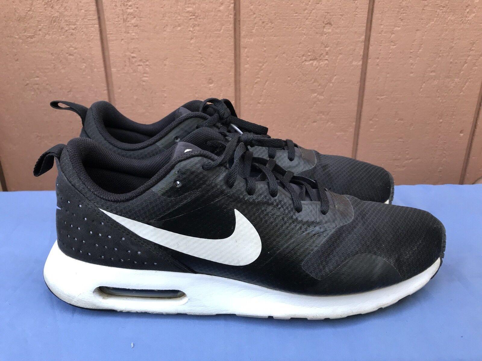 EUC Nike Air Blanco-Negro Max Tavas negro / Blanco-Negro Air nosotros 13 705149 009 running zapatos A4 c5ddbc