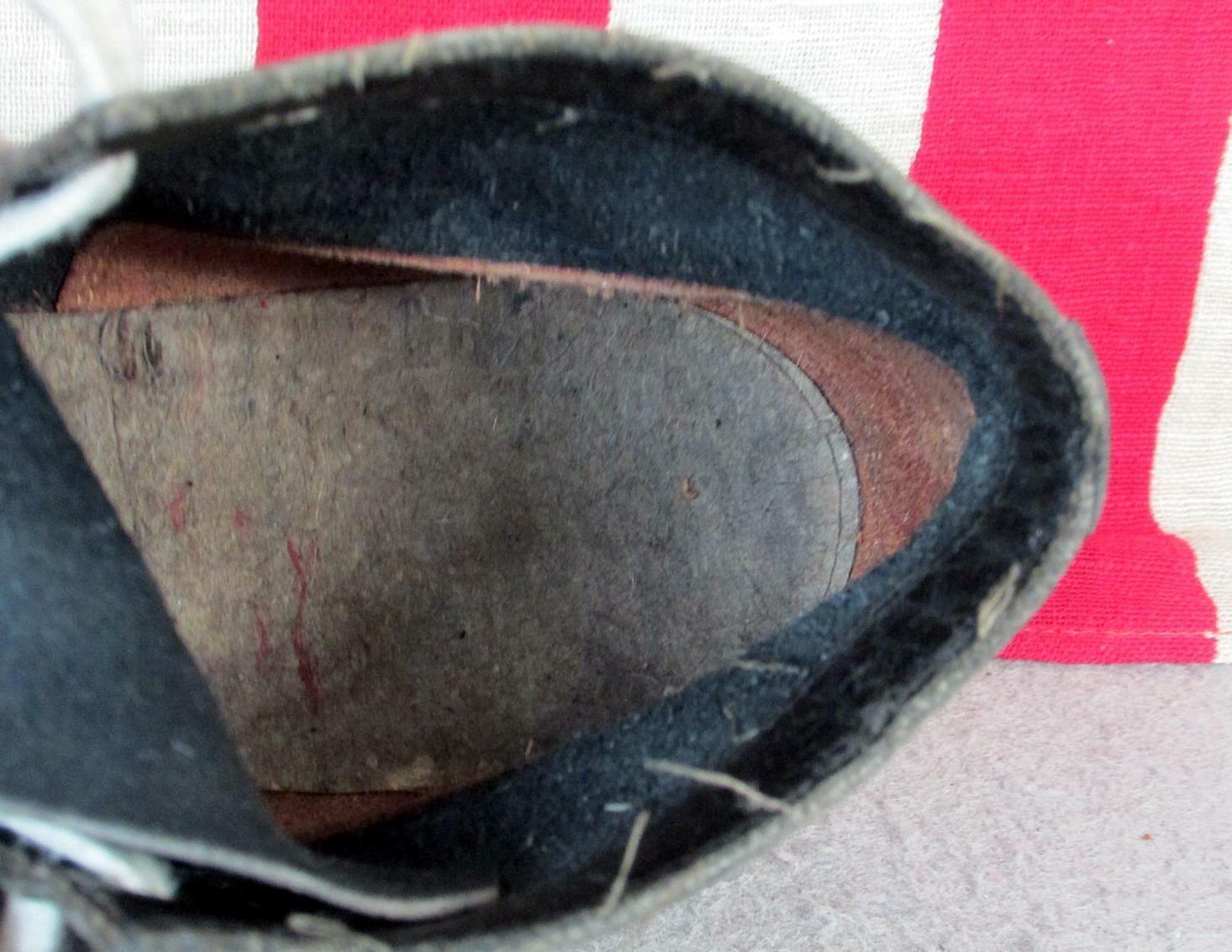 Vintage 1930s Black Leather High Top Athletic Sho… - image 10