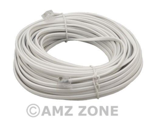 RJ11 a RJ11 Cable módem de banda ancha ADSL BT Router DSL Internet Teléfono Blanco Plomo