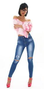 Jeans Women's High Waist Skinny Jeans Denim Pants Used Look