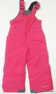 Columbia Chillee Snow Bibs Pants Outgrown Girls Sizes 2T 3T Hot Pink
