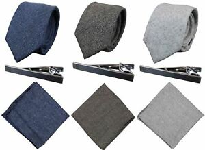 Cravate, Mouchoir, Pince-cravate Tweed Rétro Classique Peaky Blinders Homme