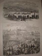 European race course Peking China & Coronation King Hungary 1867 prints ref Y4